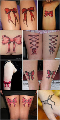 tatuagem de laço no pulso pernas e coxa