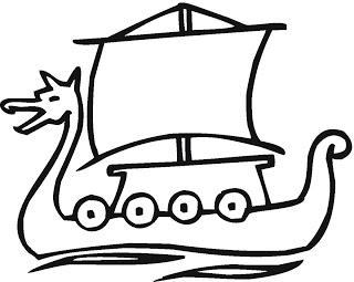 desenhos para imprimir e colorir de barco