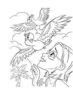 desenhos para imprimir e colorir do Filme Rio