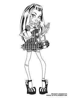 desenhos para imprimir e colorir da Monster High