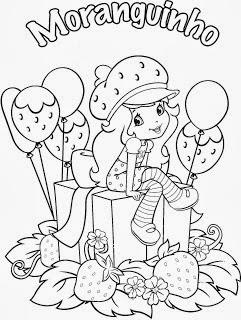 desenhos para imprimir e colorir da Moranguinho