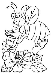 desenhos para imprimir e colorir da Abelha