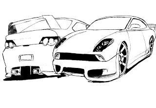 desenhos para imprimir e colorir de Carros
