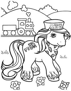 desenhos para imprimir e colorir do Poney