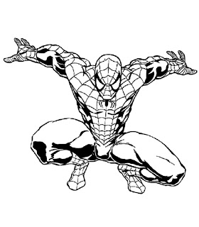 desenhos para imprimir e colorir do Homem Aranha