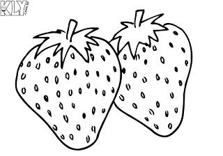 desenhos para imprimir e colorir de Morango