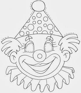 desenhos para imprimir e colorir de Palhaço