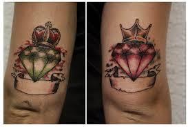 tatuagem de diamante no braço