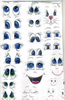 moldes de olhos e boca