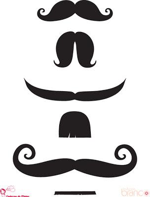 moldes de bigodinhos