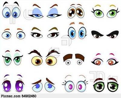 moldes de olhos