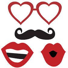 molde de óculos de coração boca e bigode
