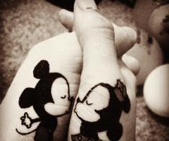 tatuagens mickey e minnie