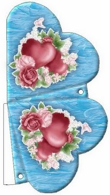 Caixinhas para lembrancinhas de coração