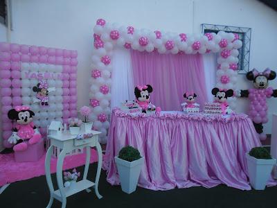 decoração de festa infantil tema minnie