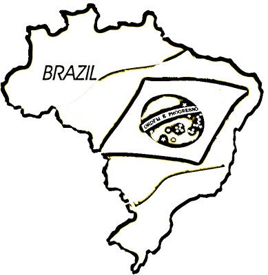 Bandeira Do Brasil Para Colorir 2 Papo Ativo