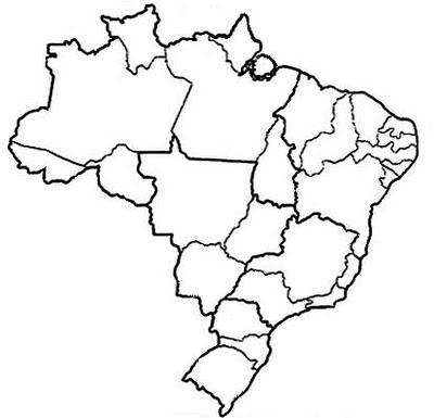 Desenhos Do Mapa Do Brasil Para Colorir