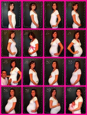 várias fotos de grávidas