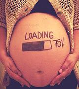 fotos de grávidas com desenho na barriga