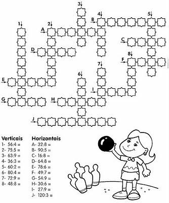 cruzadinha de matematica