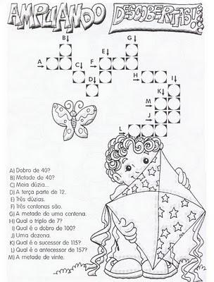 cruzadinha de matemática