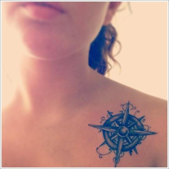 Bússola Tattoo - Tatuagem de Rosa dos Ventos