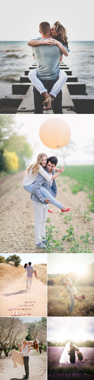 pose para foto de casal carregando no colo