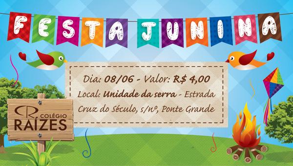 Convite Festa Junina para editar
