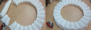 Como fazer um boneco de neve com copos descartáveis
