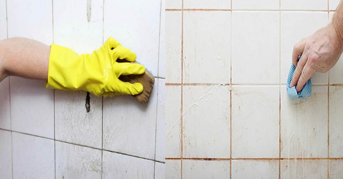 limpar azulejo de banheiro
