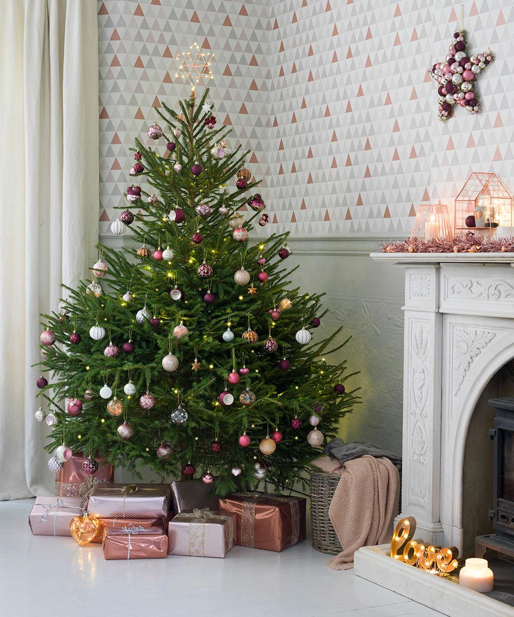 árvores de Natal decoradas